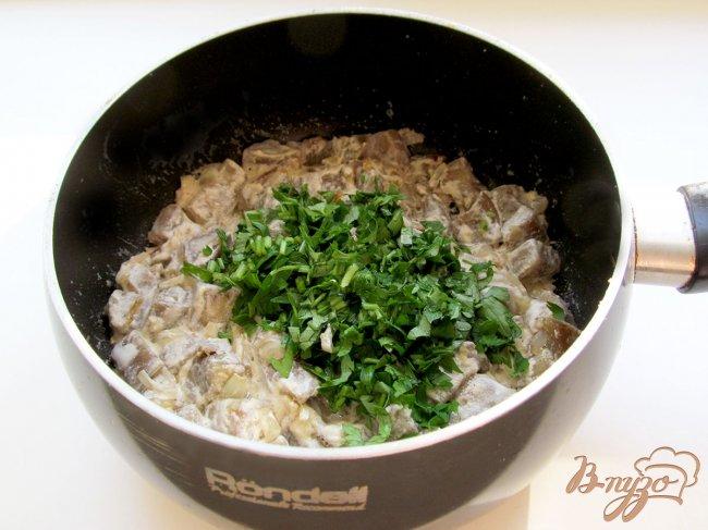 Фото приготовление рецепта: Баклажаны, как грибы шаг №8