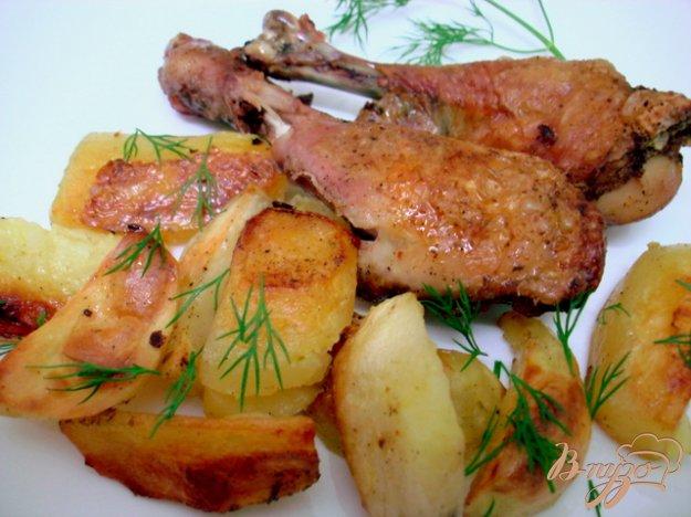 Рецепт Куриные голени запеченные с картофелем
