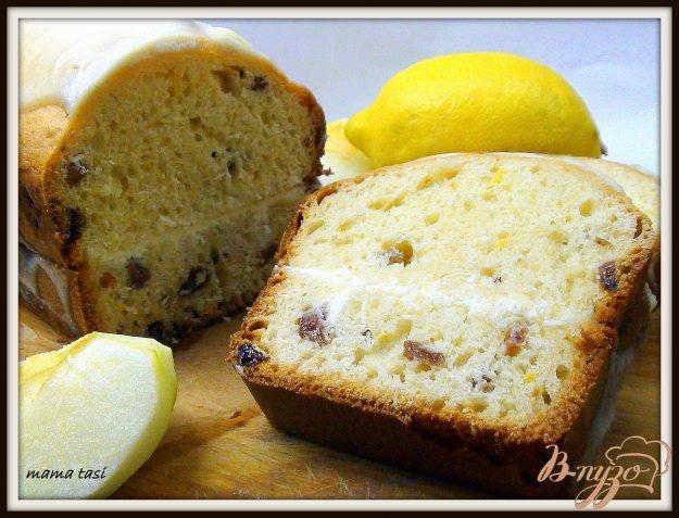 Рецепт Кекс йогуртовый с лимонным кремом и глазурью.
