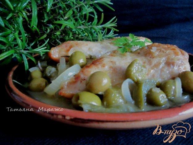 Рецепт Куриные грудки с оливками