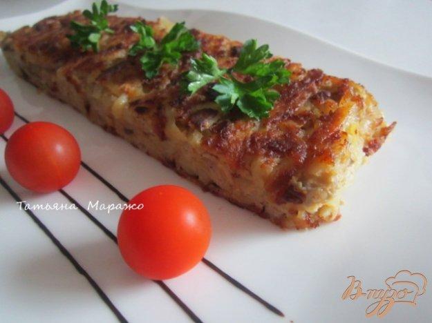 Рецепт Тортилья из картофеля с грибами и гусиным паштетом