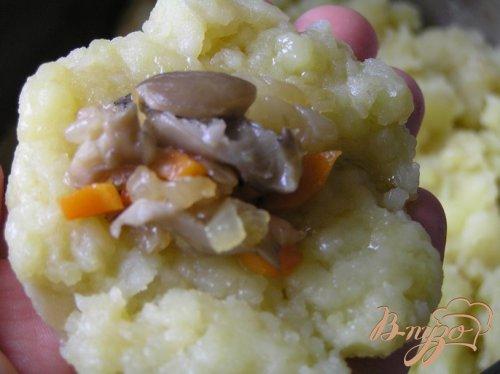 Запеченные картофельные крокеты с грибами