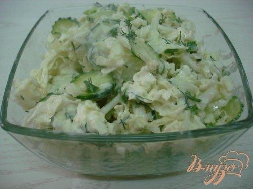 Салат из пекинской капусты в кисло сладкой заправке