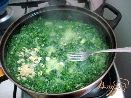 Горячий соус из шпината