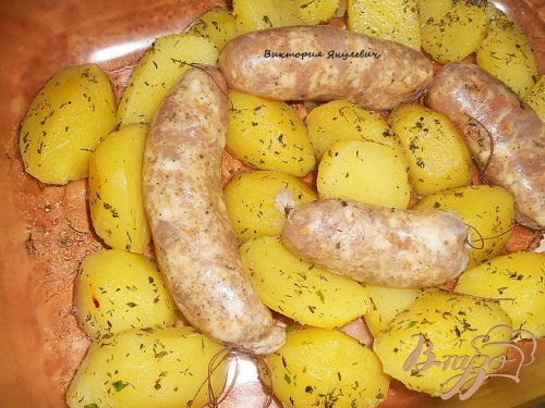 Очень вкусная домашняя куриная колбаска - гриль