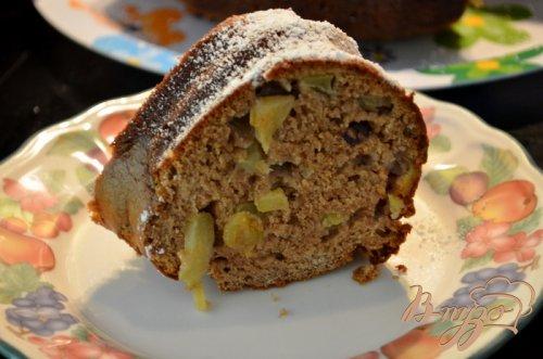 Яблочный кекс с изюмом и клюквой