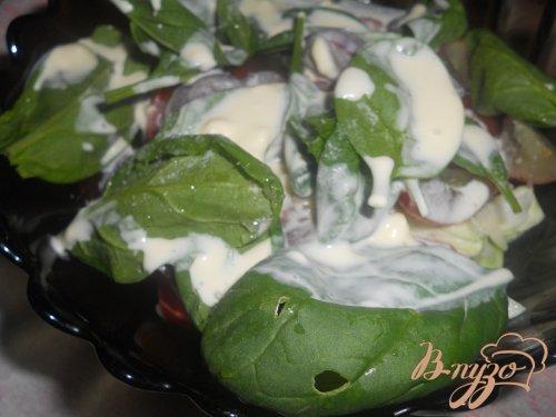 Салат с виноградом и йогуртом