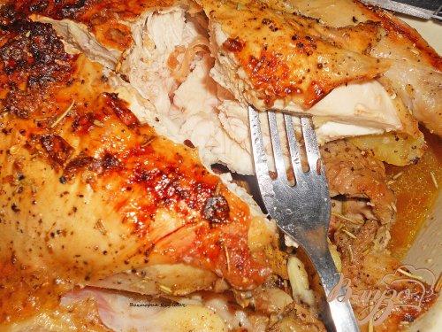 Сочная курица с розмарином и картофелем