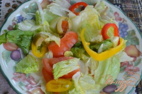 Салат не простой с креветками