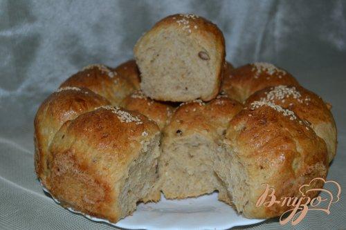 Овсяно-пшеничные булочки с сыром и семечками