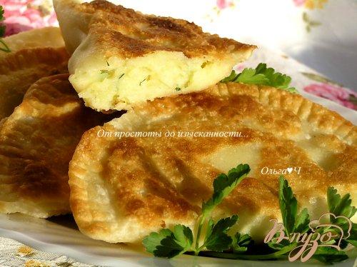 Чебуреки с картофелем и зеленью