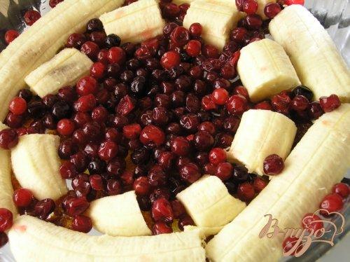 Бананово-ягодный татен