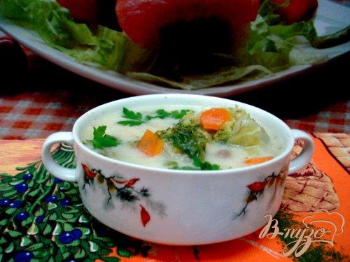 Летний лёгкий суп с сырками