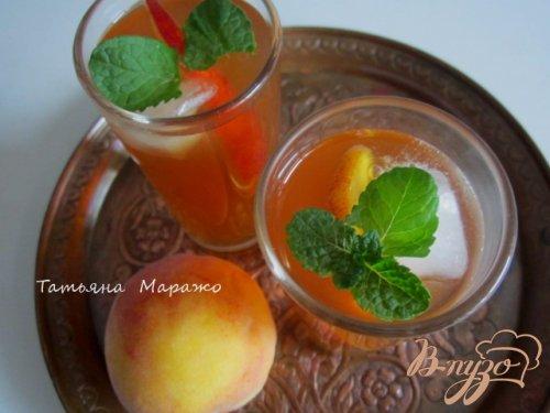 Холодный персиковый чай ( ice tea)