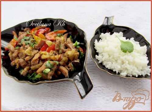 Баклажаны с курицей по-пекински
