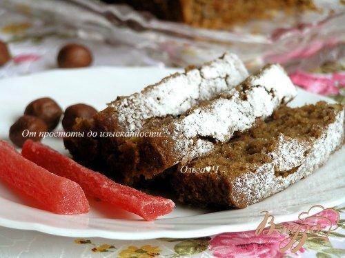 Шоколадный манник с папайей и фундуком