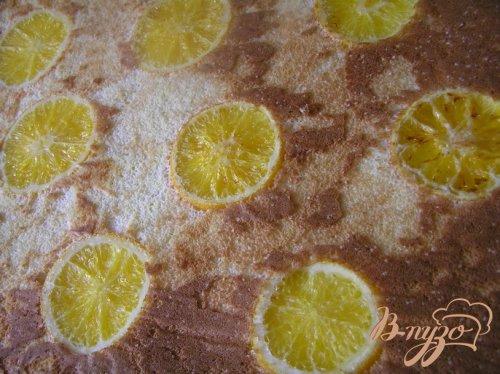 Цитрусовый бисквитный рулет