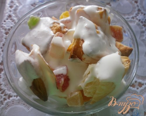 Десерт из слоеного теста