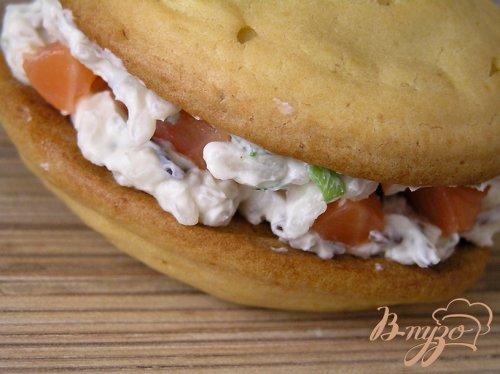 """Картофельные """"эклеры"""" с творожным сыром, двумя видами риса и форелью"""