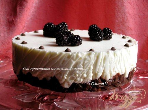 Творожно-зефирный торт с вишней