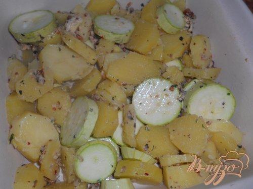 Картофельно - кабачковая запеканка