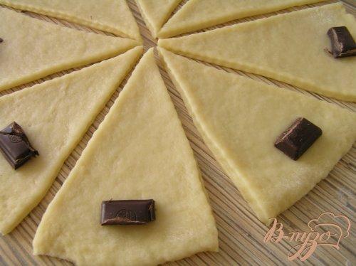 Печенье-круассаны с шоколадом