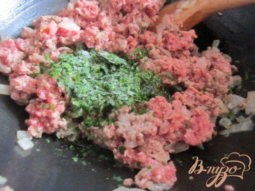 Перевернутый пирог с мясным фаршем и баклажанами