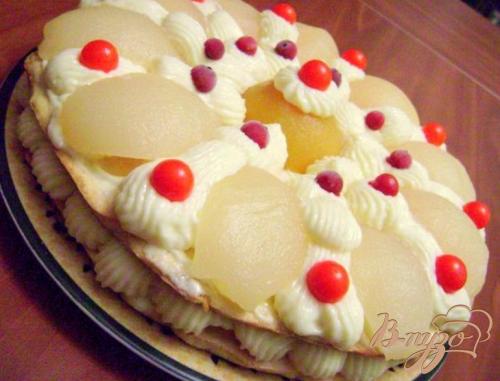 Торт персиково - грушевый