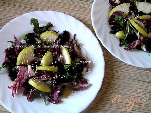 Салат с грушей и свекольным желе