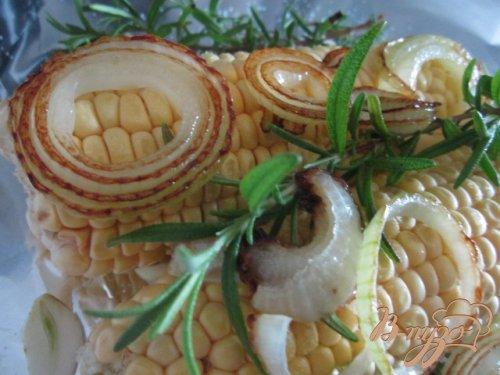 Запеченая кукуруза с розмарином