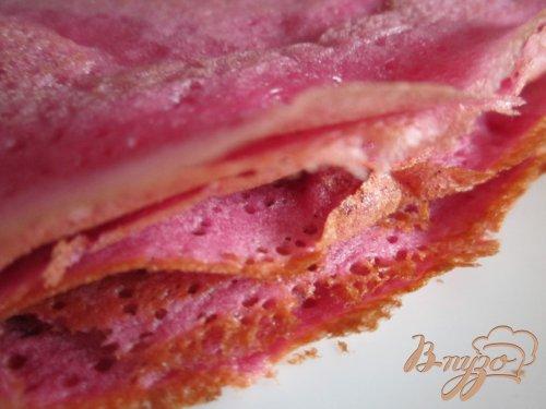 Розовые блинчики