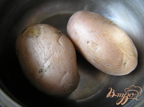 Картофельные эклеры с творожным сыром, рисом, овощами и зеленью
