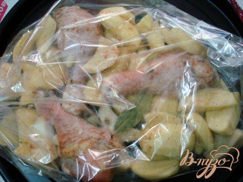 Куриные голени  запеченные с картофелем
