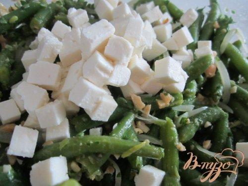 Салат со стручковой фасолью и сыром Фета