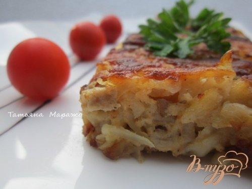 Тортилья из картофеля с грибами и гусиным паштетом