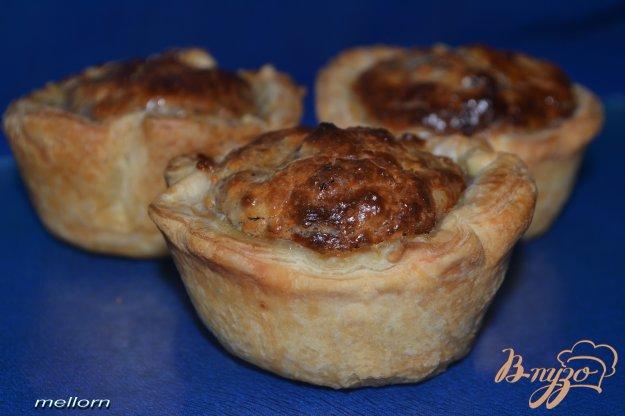 Рецепт Слоеные корзиночки с творожно-ореховой начинкой
