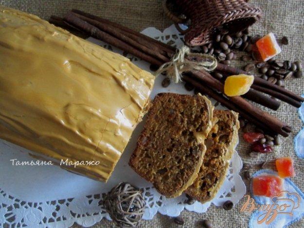Рецепт Кекс с цукатами и кофейной глазурью