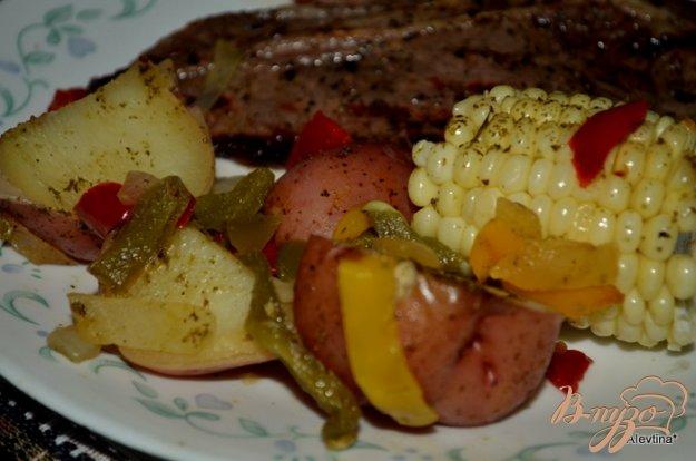 Рецепт Картофель в фольге с овощами