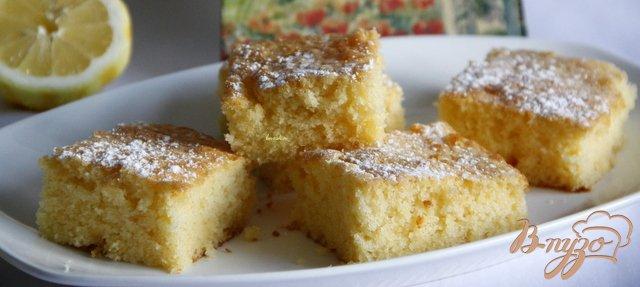 Фото приготовление рецепта: Лимоный пирог
