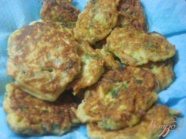 Рецепт Кабачковые оладьи с кинзой