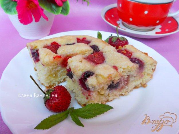 Рецепт Быстрый пирог с ягодами