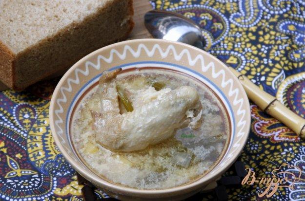 фото рецепта: Суп из курицы с сельдереем по-гречески