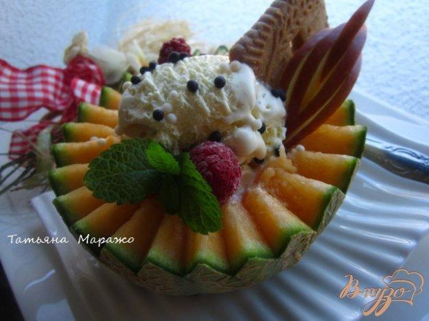 Рецепт Дыня с мороженым