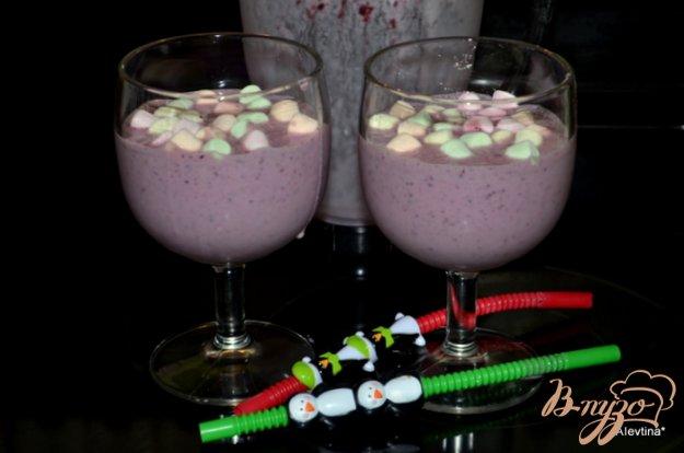 Рецепт Коктейль ягодный с маршмэллоу
