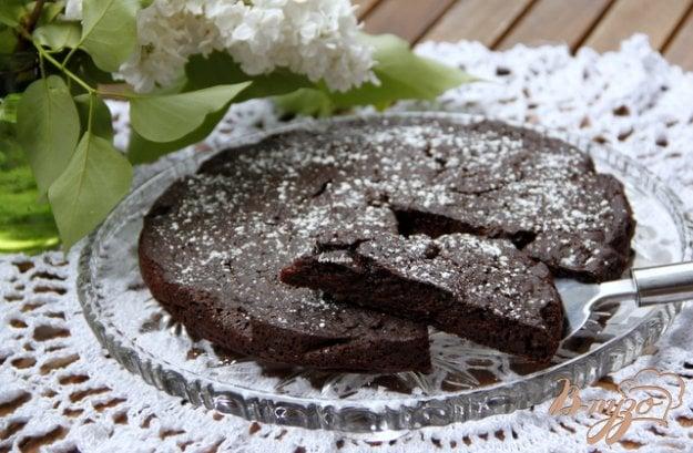 фото рецепта: Итальянский шоколадно яблочный пирог