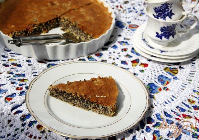 Фото приготовление рецепта: Маково-ореховый  пирог Турта де папаверо шаг №8