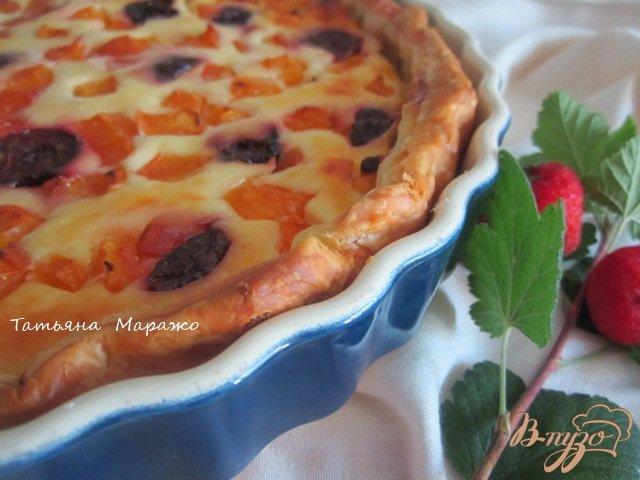 Фото приготовление рецепта: Открытый пирог с рикоттой шаг №7