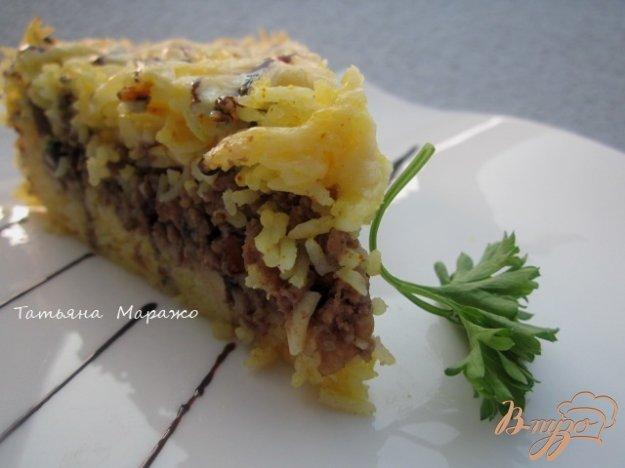 Рецепт Рисовый пирог с мясной начинкой