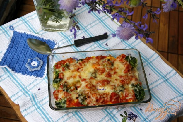 Рецепт Гратин из тортеллини и брокколи
