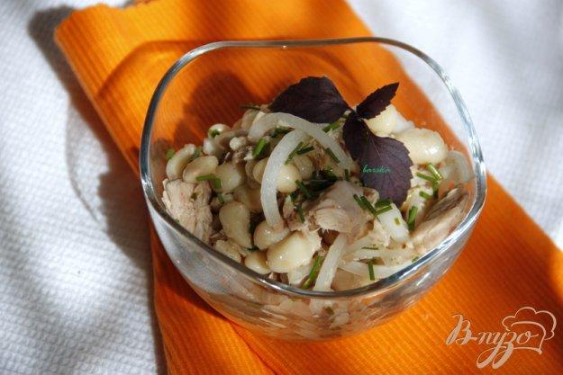 Рецепт Тосканский салат с тунцом и белой фасолью